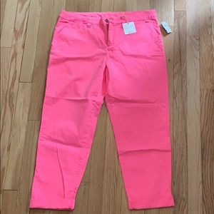 Neon pink chinos from Gap